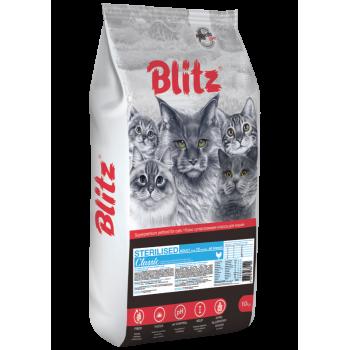 Blitz / Блитц Classic сух. корм д/стерилизованных кошек с Курицей, 10 кг