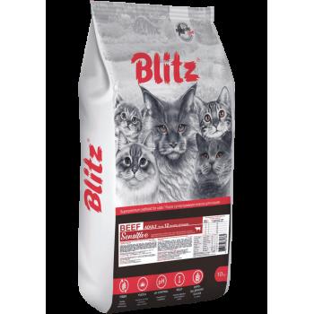 Blitz / Блитц ADULT CAT BEEF сухой корм для взрослых кошек Говядина, 10 кг