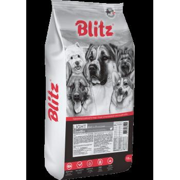 Blitz / Блитц Adult Light Sensitive сух. корм д/взрослых собак с лишним весом Индейка, 15 кг
