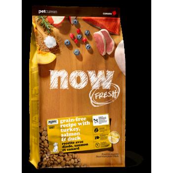 Now! / Нау! Беззерновой для Щенков с Индейкой, Уткой и овощами (Fresh Puppy Recipe Grain Free 28/18), 1,59 кг