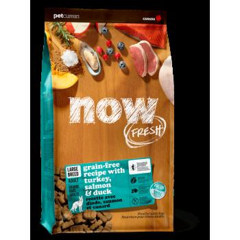 Now! / Нау! Контроль веса беззерновой корм для Собак Крупных пород с Индейкой, Уткой и овощами (Fresh Senior Large Breed Recipe Grain Free 25/11), 5,44 кг