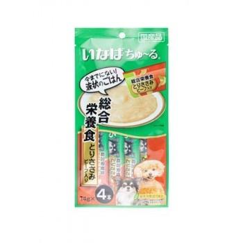 Inaba Чао Чуру пюре для собак восстановление в/после болезни, телятина, 56 гр