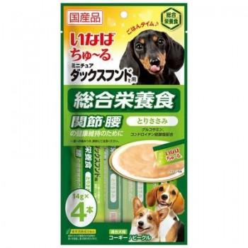 Inaba Чао Чуру пюре для собак для Таксы, здоровые сустав/позвоноч., 56 гр