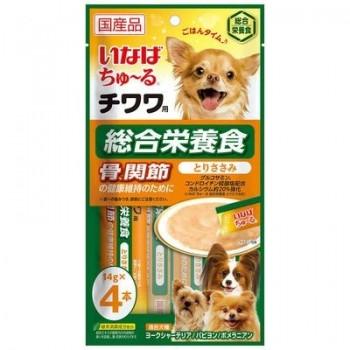 Inaba Чао Чуру пюре для собак для Чихуа-хуа,здоровые суставы и кости, 56 гр