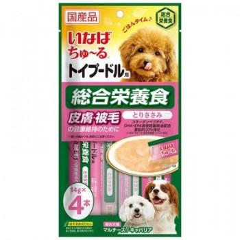Inaba Чао Чуру пюре для собак для Пуделя, уход за кожей и шерстью, 56 гр