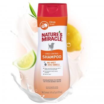 Nature's Miracle Шампунь против линьки, для собак NM SHAMPOO ODOR CONTROL SHED CITRUS, 473 мл