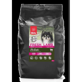 Blitz / Блитц низкозерновой корм для взрослых собак мелких пород Свежий Ягненок, 12 кг