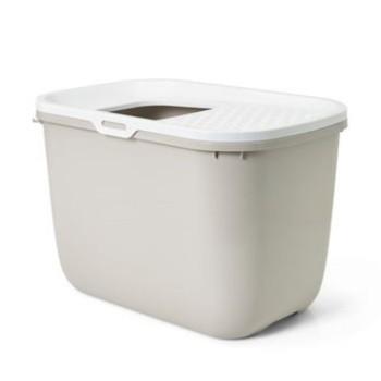 Savic / Савик Туалет Hop In закрытый, с верхним входом, для кошек, мокко/белый 58,5*39*39,5 см