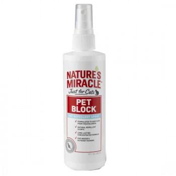 Nature's Miracle средство отпугивающее, для кошек NM JFC Pet Block Cat Repellent Spray, 237 мл