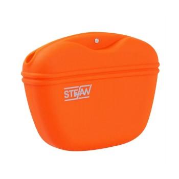 SuperDesign силиконовая тренировочная сумка Мнямс для лакомств, размер  L, оранжевая