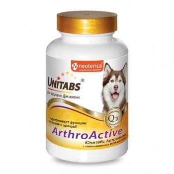 Unitabs / Юнитабс ArthroАctive с Q10 для собак при болезнях суставов 100 таб.