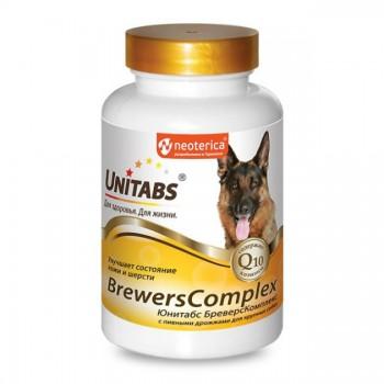 Unitabs / Юнитабс BreversComplex с Q10 д/крупных собак с пив. дрожжами 100 таб.