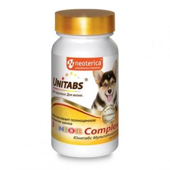 Unitabs / Юнитабс JuniorComplex с В9 для щенков ежедневные 100 таб.