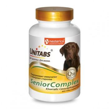 Unitabs / Юнитабс SeniorComplex с Q10 для собак старше 7 лет 100 таб.