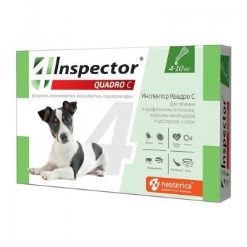 Inspector / Инспектор инсекто-акарицидные капли от всех паразитов для собак (от 4 до 10 кг)