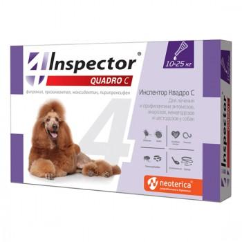 Inspector / Инспектор Тотал С инсекто-акарицидные капли от всех паразитов для собак 10-25 кг