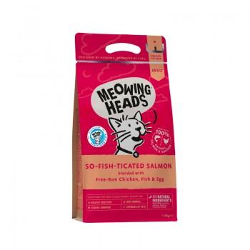 "Barking Heads / Баркинг Хедс Для Взрослых кошек с Лососем, курицей и рисом ""Фиш-гурман"", 1,5 кг"