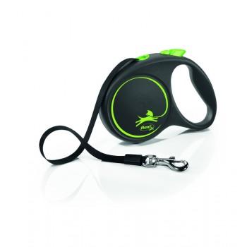 Рулетка Flexi Design M-L 5м*35-50 кг (ремень) зеленый