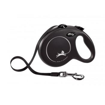 Flexi / Флекси Рулетка-ремень для собак до 50кг, 8м, черная