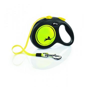 Flexi рулетка Neon L (до 50 кг) новый дизайн ремень 5 м
