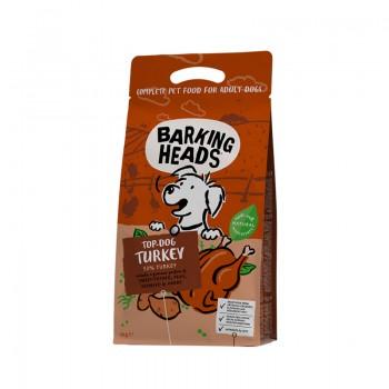 """Barking Heads / Баркинг Хедс Беззерновой для Собак с Индейкой и бататом """"Бесподобная индейка"""", 2 кг"""