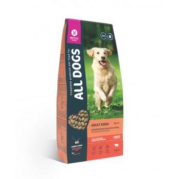 All Dogs / Олл Догс корм сухой д/взр. соб. с говядиной и овощами, 13 кг