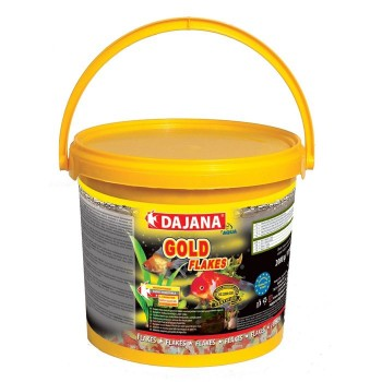 Dajana / Даяна Корм для рыб GOLD FLAKES хлопья 10000мл, ведро (10л/2кг) DP001G
