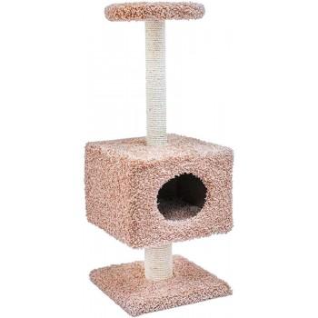 Darell / Дарэлл Домик-когтеточка Тумба квадрат на подставке с полкой 37*58*94см (8421)