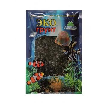 Эко Грунт цветная мраморная крошка 5-10 мм черно (блестящая) 3,5 кг