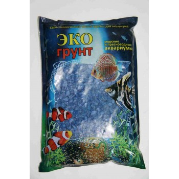 Эко Грунт цветная мраморная крошка 5-10 мм синяя (блестящая) 3,5 кг