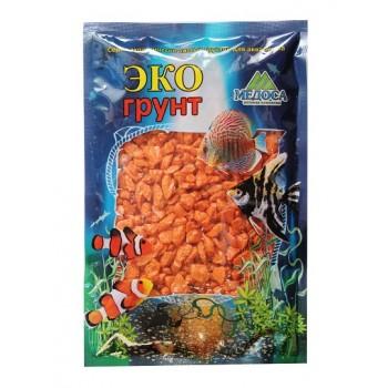 Эко Грунт цветная мраморная крошка 5-10 мм оранжевая (блестящая) 3,5 кг