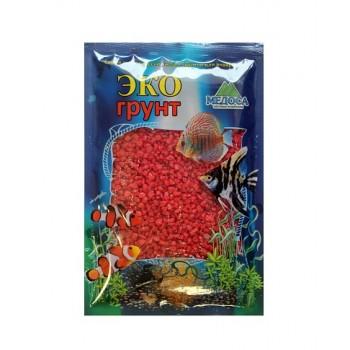 Эко Грунт цветная мраморная крошка 5-10 мм красная (блестящая) 3,5 кг