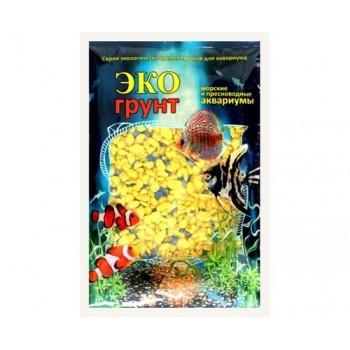 Эко Грунт цветная мраморная крошка 5-10 мм желто/синяя (блестящая) 3,5 кг