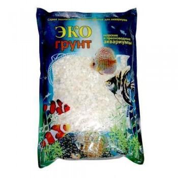 Эко Грунт мраморная крошка белая (2-5 мм) 3,5 кг