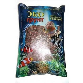 Эко Грунт кварцит МАЛИНОВЫЙ (3-6 мм) 3,5 кг