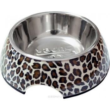 """SuperDesign миска на меламиновой подставке """"Леопард"""" 0,16 л"""