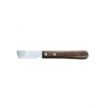 Show Tech тримминговочный нож 3280 с деревянной ручкой для шерсти средней жесткости