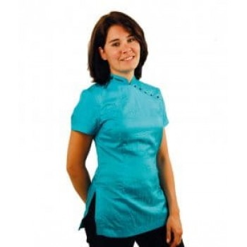 Tikima Elba L Turquoise Shirt рубашка с коротким рукавом цвет бирюзовый р.L