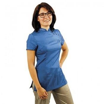 Tikima Elba L Cobalt Blue Shirt рубашка с коротким рукавом цвет ярко-синий р.L