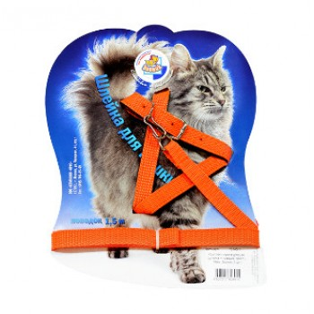 Зооник 1319-1 Комплект стропа д/кошек (шлейка+поводок, фаст.) 14 мм