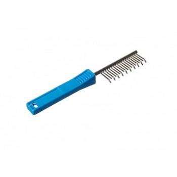 Зооник 7316 Расческа с пластмасовой ручкой, загнутая