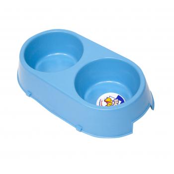 Зооник RP1345 Миска пластмассовая д/собак двойная (RP)