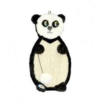 "Зооник 22374 Когтеточка подвесная ""Панда"", сизаль+одн.мех. 530х290х30мм"