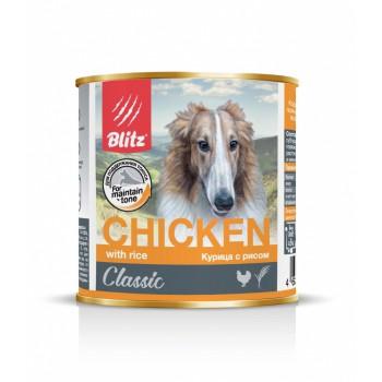 Blitz / Блитц Classic Кон. д/собак Курица с Рисом, 750 гр