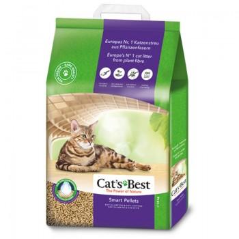 Наполнитель для кошачьих туалетов Cat's Best Smart Pellets 20л*10кг, древесный комкующийся