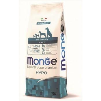 Monge / Монж Dog Speciality Hypoallergenic корм для собак гипоаллергенный лосось с тунцом 12 кг