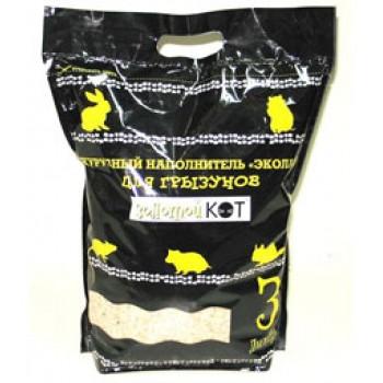 Золотой кот Кукурузный наполнитель для грызунов, 3 л.