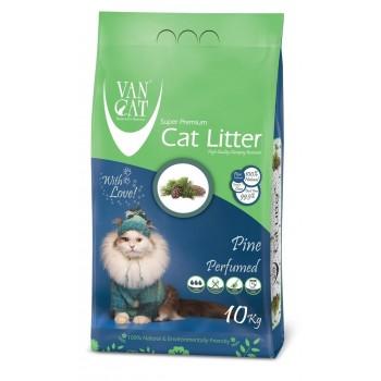 Van Cat Комкующийся Наполнитель без пыли с ароматом Соснового леса, пакет (Pine) 10 кг