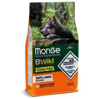 Monge / Монж Dog GRAIN FREE беззерновой корм для щенков утка с картофелем 2,5 кг