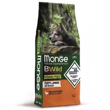 Monge / Монж Dog BWild GRAIN FREE Puppy&Junior беззерновой корм из мяса утки с картофелем для щенков всех пород 12 кг